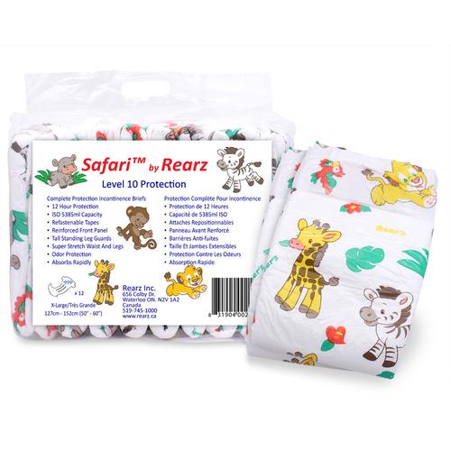 "Rearz ""Safari"" Super Absorbent Adult Diapers SF-8/SF-9/SF-10/SF-11"